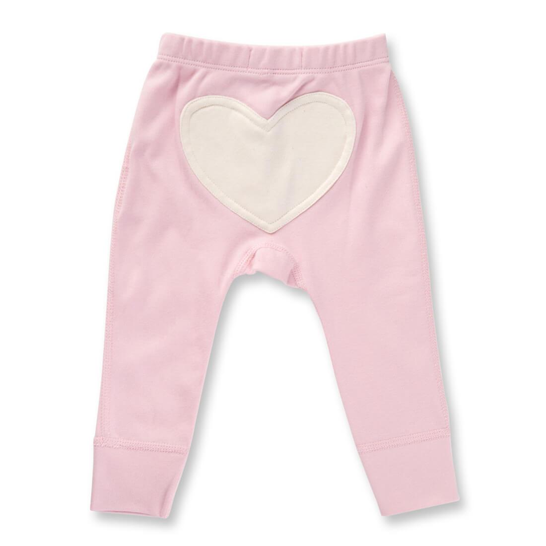 Sapling Child Dusty Pink Heart Pants