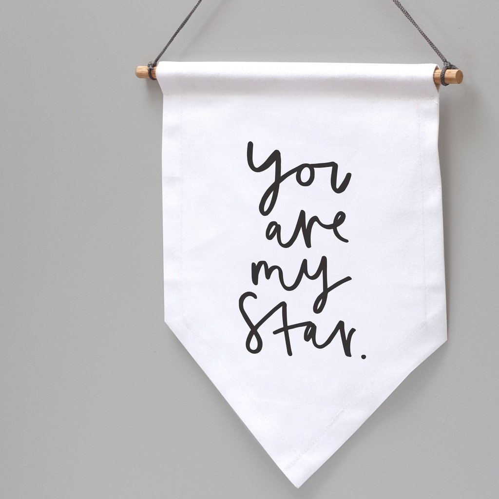 You Are My Star Wall Flag 1024x1024