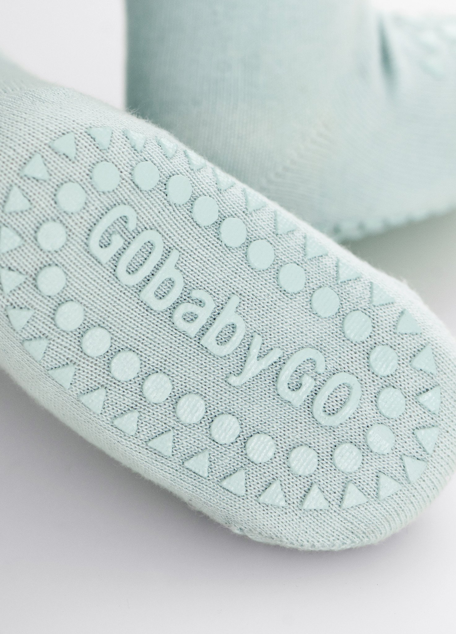 GoBabyGo MintGreen Socks Close Up Copy