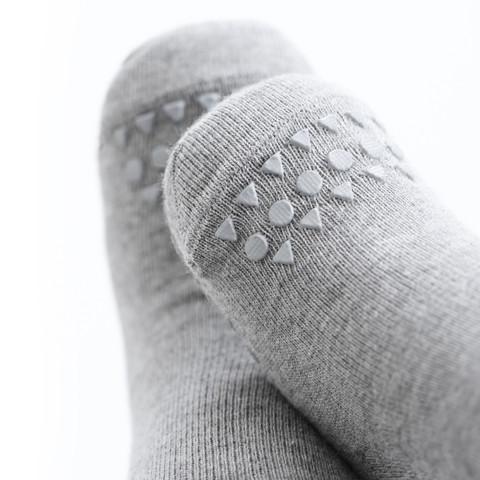 GoBabyGo Socks Grey Melange Toes
