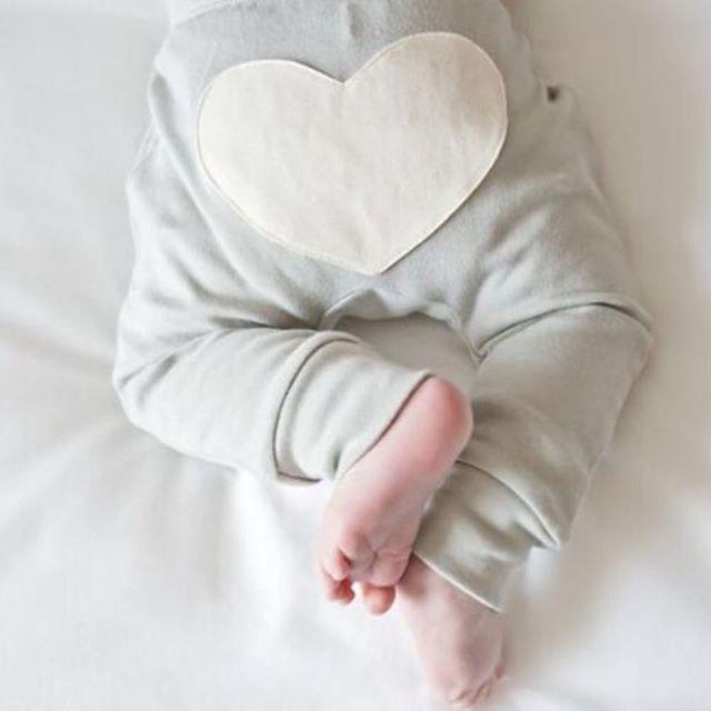 Grey Heart Pants