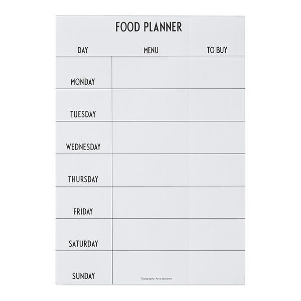weekly food planner timeless baby