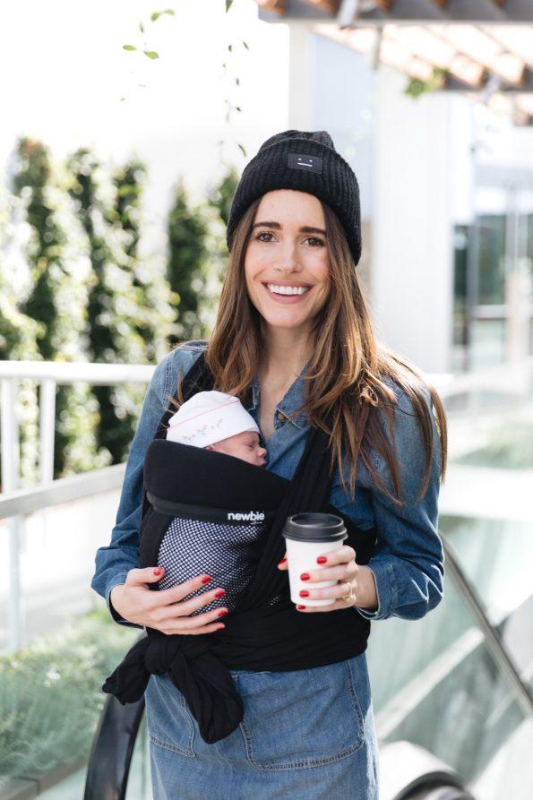 Louise-Roe-wearing-Newbie-Love-baby-wrap-carrier-4