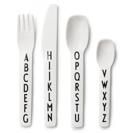 Arne Jacobsen Kids Melamine Cutlery By Design Letters