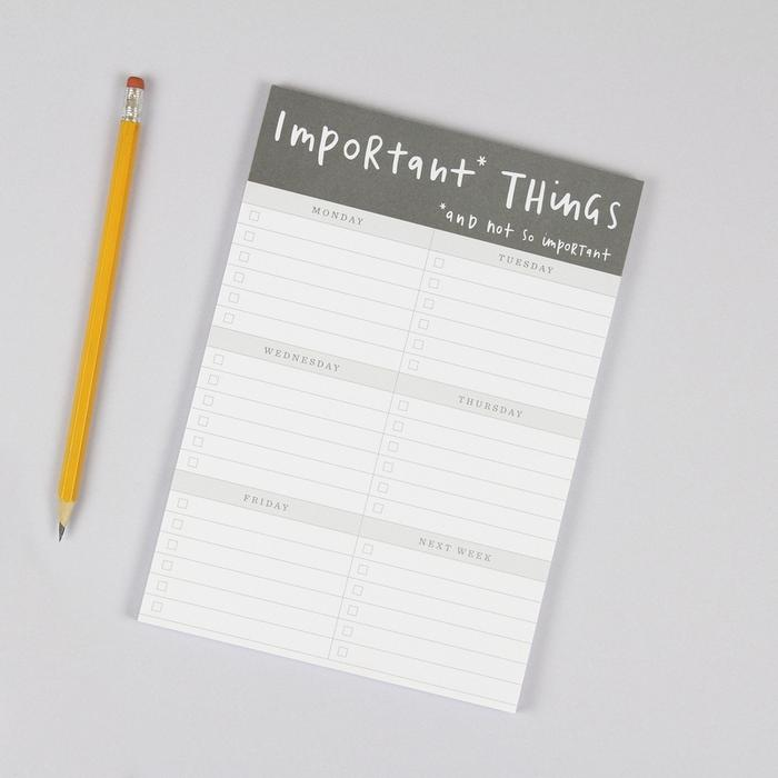 A5 Notepad Important Things 1 X700