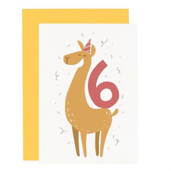 CCCA06-party-animals-lama-6th-birthday-card_x700