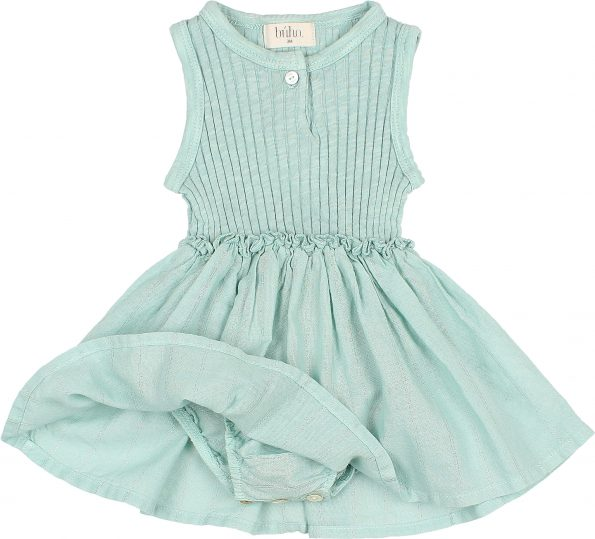 9105 BABY COMBI CULOTTE DRESS ALMOND DETAIL