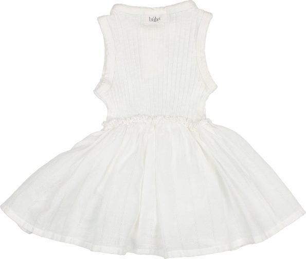 9105 BABY COMBI CULOTTE DRESS WHITE BACK