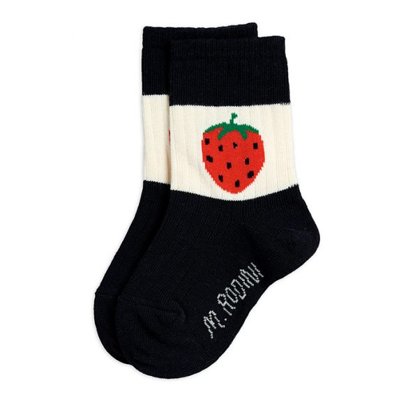 strawberry socksblack