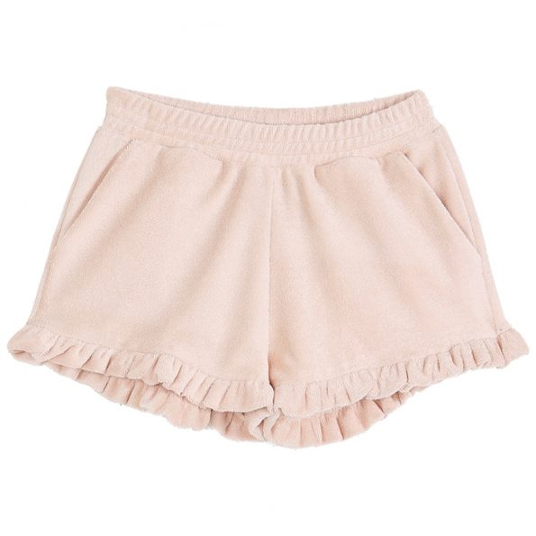 S009-fille-short-éponge-coton-bio-volants-rose