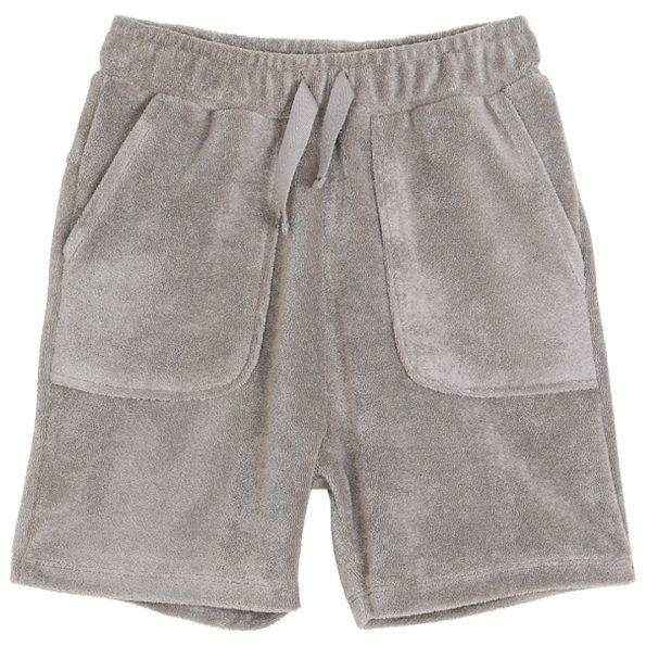 S011-garçon-short-éponge-coton-gris-argile