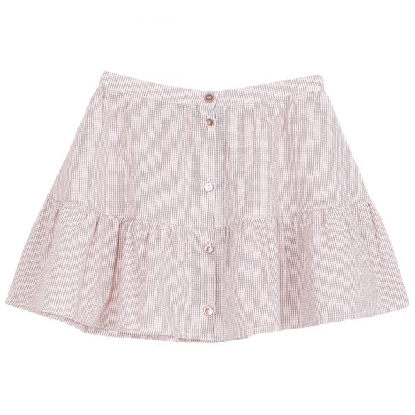 S058B-fille-jupe-coton-lurex-écru-rose-carreau
