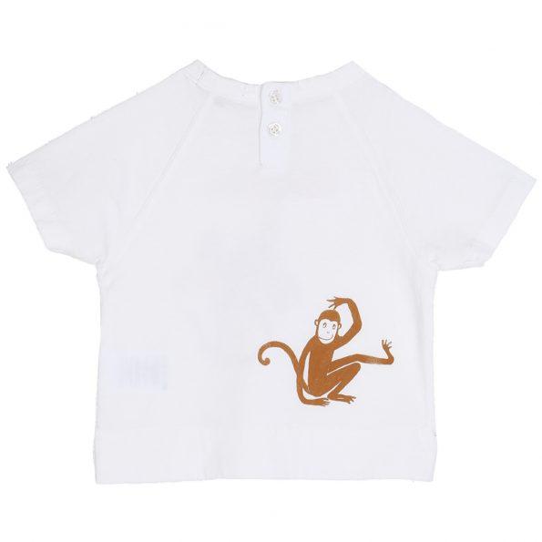 S103-bébé-teeshirt-coton-blanc-ecru-dos (singeries)