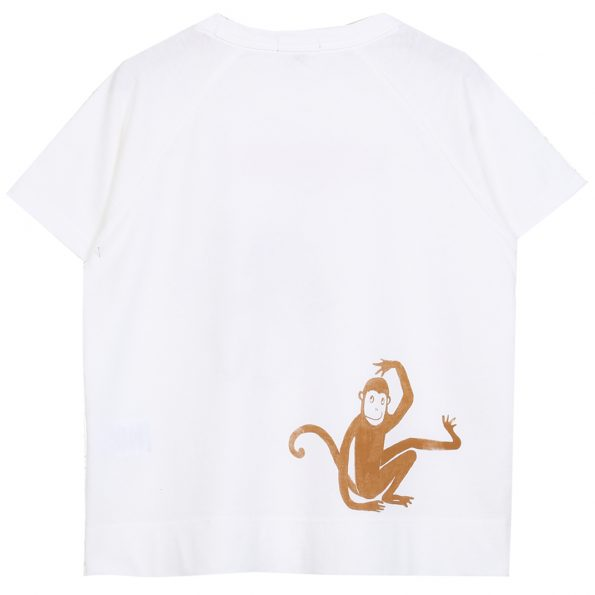 S103-garçon-teeshirt-coton-blanc-ecru-dos (singeries)