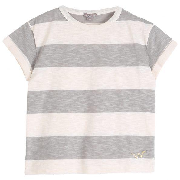 S137-garçon-teeshirt-coton-bio-rayure-ecru-gris-argile