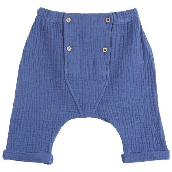 S320-bébé-pantalon-sarouel-gaze-coton-bleu-océan