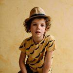 S081-bébé-teeshirt-coton-bio-imprimé-bananes-jaune-vanille